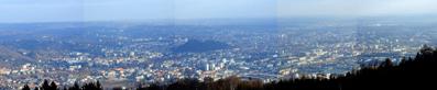 Blick vom Funk-LAN Versorgungspunkt Plabutsch auf Graz