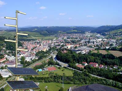 Funk-LAN Sender am Turm des Dampfkraftwerkes Voitsberg